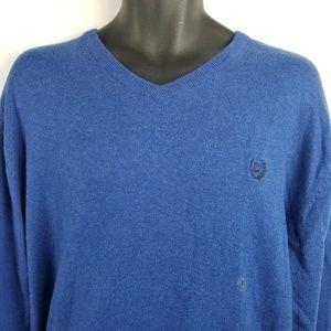 Caps V Neck Cotton Cashmere Long Sleeve Sweater
